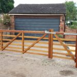 iroko 5 bar gate