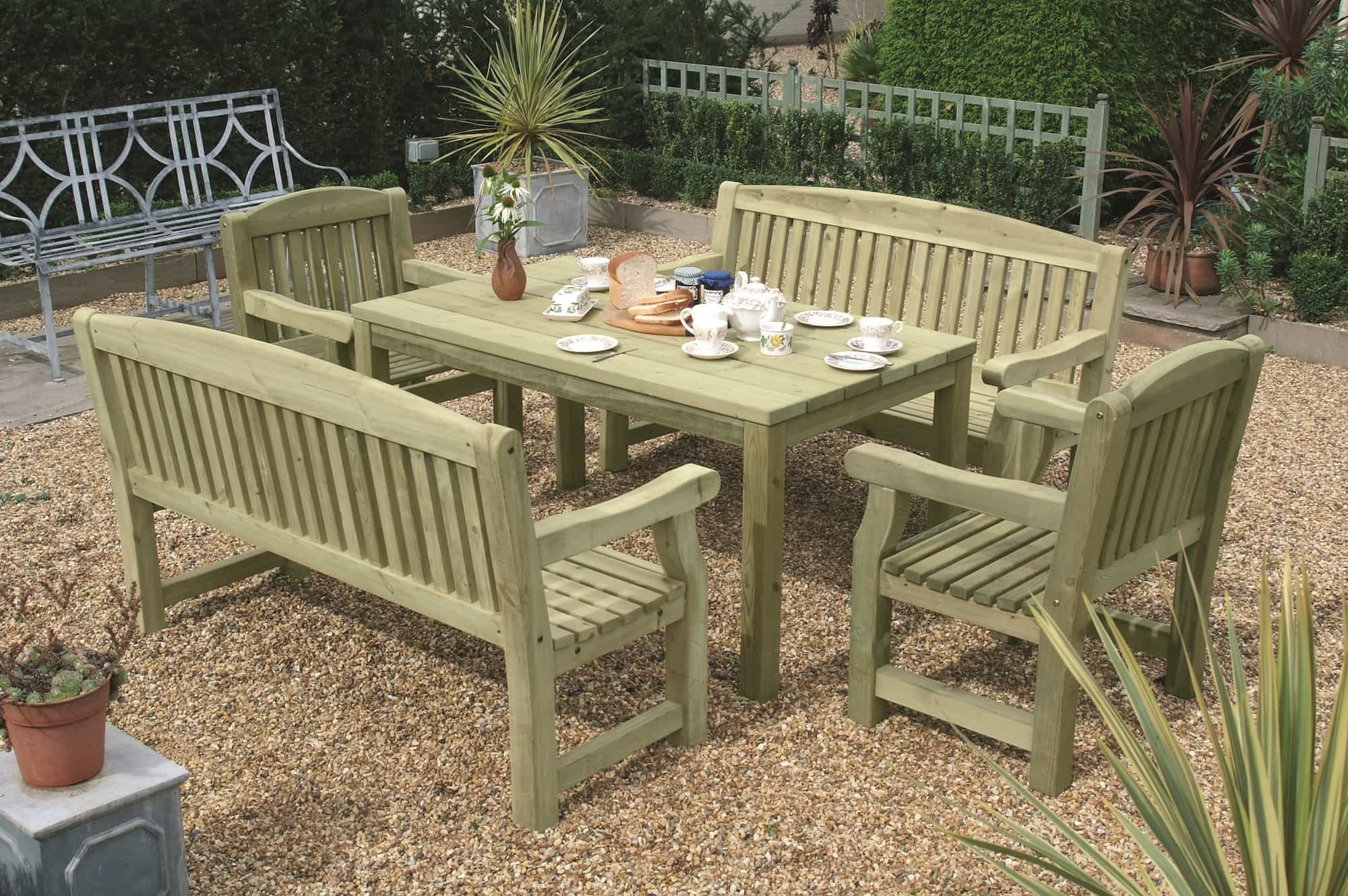 Wooden 5\' Garden Tables - Duncombe Sawmill, local and UK delivery ...