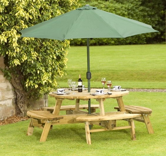 Wooden Round Picnic Table Seaters Duncombe Sawmill Local And - 8 seater round picnic table