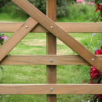 gate with hockey stick