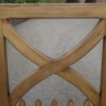 Wooden driveway gate cross detail