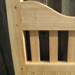 Wooden gunstock detail