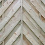 chevron fence panel