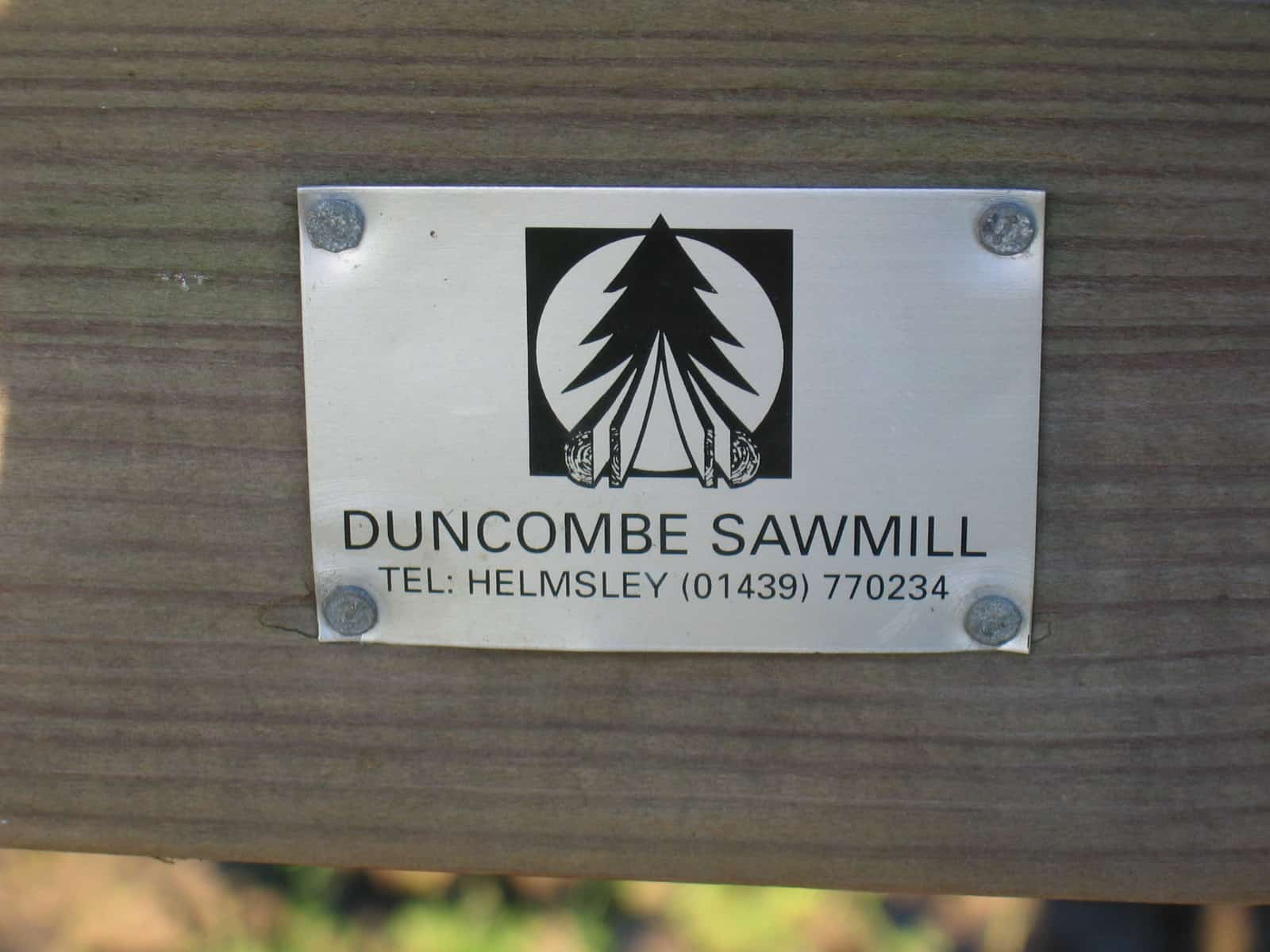 duncombe sawmill badge
