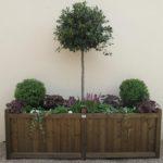 large rectangular planter