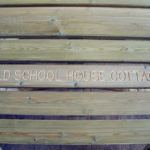 inscribed picnic table