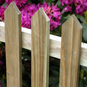 Pointed paling fencing