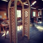 curved arch with trellis