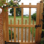 hardwood garden gate