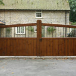 Wooden and metal gates