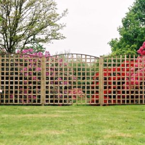 Trellis with curved top