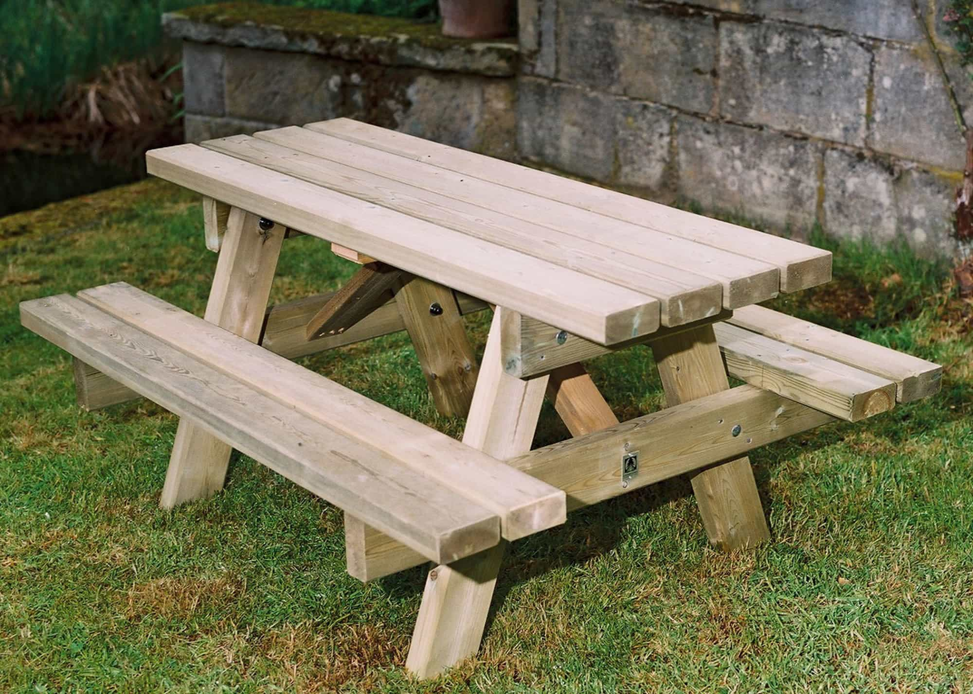 wooden small picnic table child 39 s s duncombe sawmill local and uk delivery from yorkshire. Black Bedroom Furniture Sets. Home Design Ideas
