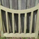 Curved gate