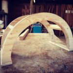 curved wooden arch