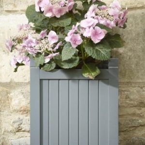 grey painted planter