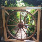 garden gate with wheel