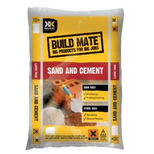 Bag of sand and cement