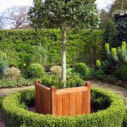 hardwood garden planter