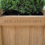 inscribed planter