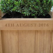 inscribed planter