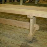 simple oak bench