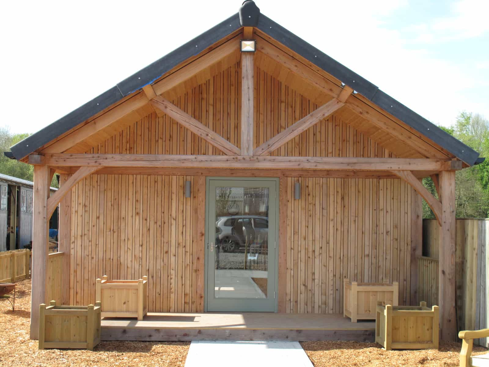 Wooden Larch Framed Buildingss - Duncombe Sawmill, local and UK