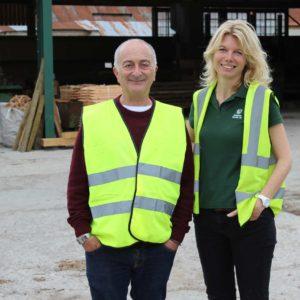 Tony Robinson & Emma Woods Duncombe Sawmill
