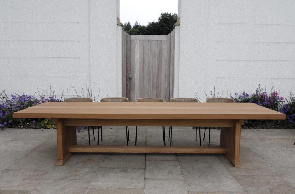 contemporary garden dining tables