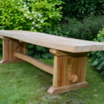 shaped bench