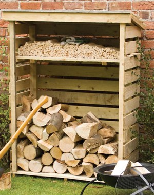 Small Log Store 1.56m h x 1.17mm w x 560mm d